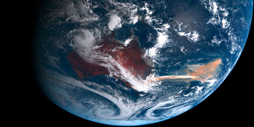 As a result of Australian wildfires, large algae blooms have formed in the Pacific Ocean that are harmful to the ocean ecosystem.