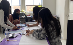 Students at YLHS, a few of whom are a part of The Wrangler, work on the posters for Nikita Gupta's Steam it Up club.