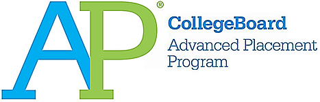 This is the official college board logo for the Advanced Placement Program.